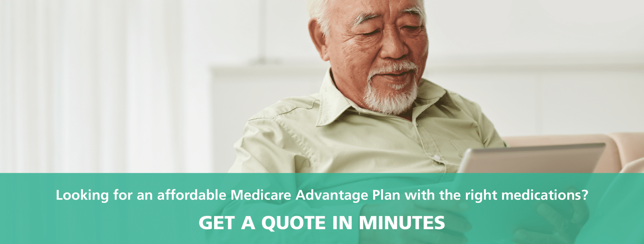 Man using online tool to get medicare quote